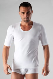 Ανδρικό μπλουζάκι basic λευκό