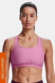 Ροζ αθλητικό σουτιέν Under Armour Crossback Heather