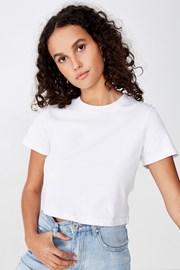 Γυναικεία basic κοντομάνικη μπλούζα Baby λευκή