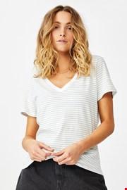 Γυναικεία basic κοντομάνικη μπλούζα One ριγέ