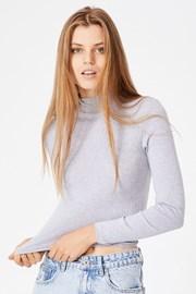 Γυναικείο basic μπλουζάκι ζιβάγκο Mila γκρι