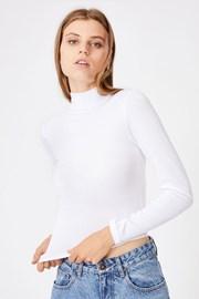 Γυναικείο basic μπλουζάκι ζιβάγκο Mila λευκό