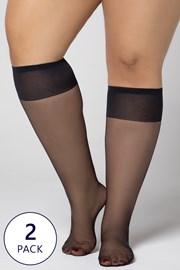 2 PACK κάλτσες μέχρι το γόνατο Plus Size 20 DEN