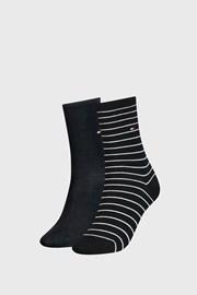 2 PACK γυναικείες κάλτσες Tommy Hilfiger Small Stripe Black