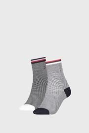 2 PACK γυναικείες κάλτσες Tommy Hilfiger Honeycomb Navy