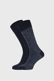2 PACK κάλτσες Tommy Hilfiger Rib μπλε σκούρο