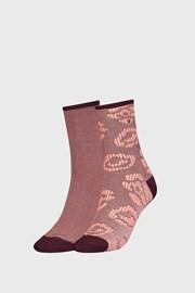 2 PACK γυναικείες ψηλές κάλτσες Tommy Hilfiger Flower