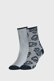 2 PACK γυναικείες κάλτσες Tommy Hilfiger Flower μπλε