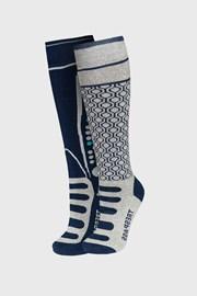 2 PACK κάλτσες μέχρι το γόνατο για αγόρια Concave γκρι Ι