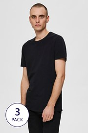 3 PACK μπλουζάκι Selected Homme New Pima