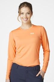 Πορτοκαλί μπλουζάκι με μακρύ μανίκι Helly Hansen
