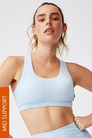 Αθλητικό σουτιέν Workout Crop μπλε