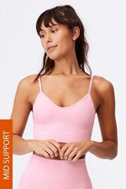 Αθλητικό σουτιέν Lifestyle ροζ