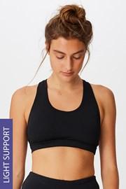 Αθλητικό σουτιέν Workout Crop μαύρο