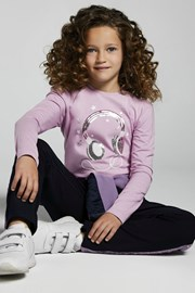 Μπλουζάκι για κορίτσια με μακριά μανίκια Mayoral Music