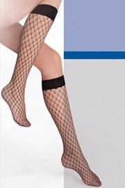 Διχτυωτές μαύρες κάλτσες μέχρι το γόνατο