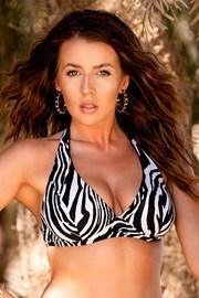 Πάνω μέρος γυναικείου μαγιό Borneo Zebra