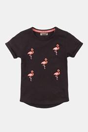 Κοντομάνικη μπλούζα για κορίτσια Flamingo