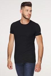 Μαύρο βαμβακερό μπλουζάκι PLUS SIZE