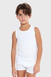 Φανελάκι για αγόρια E. Coveri basic λευκό