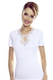 Γυναικείο λευκό μπλουζάκι Leila