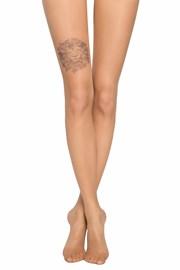 Γυναικείο καλσόν με μοτίβο τατουάζ στο μηρό 20 DEN