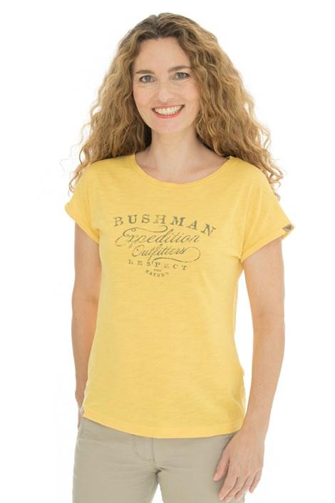Γυναικείό κίτρινο μπλουζάκι Bushman Kira