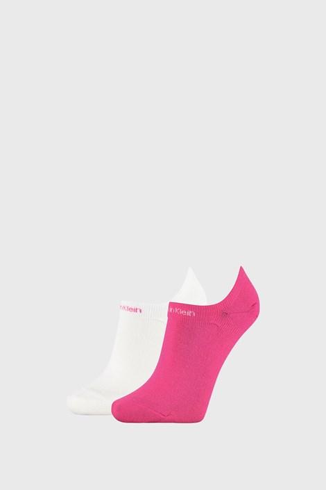 2 PACK γυναικείες κάλτσες Calvin Klein Leanne ροζ / λευκό
