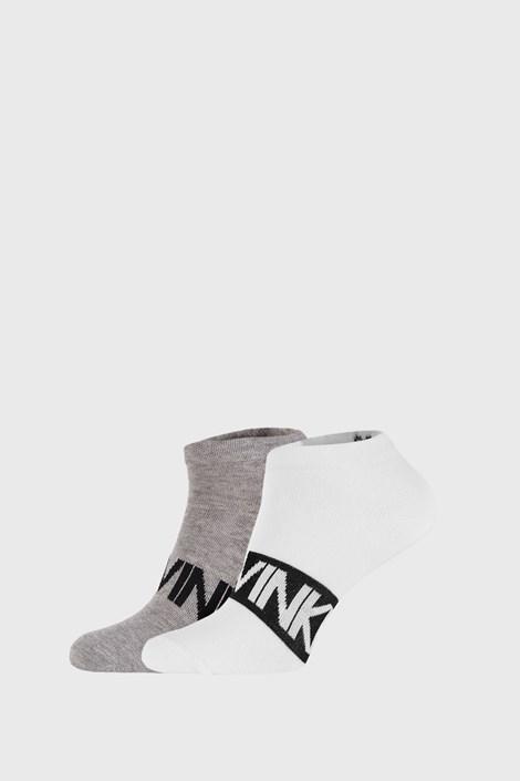 2 PACK κάλτσες Calvin Klein Dirk Γκρι/Λευκό