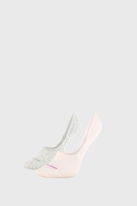 2 PACK γυναικείες κάλτσες Calvin Klein Jessica γκρι / ροζ