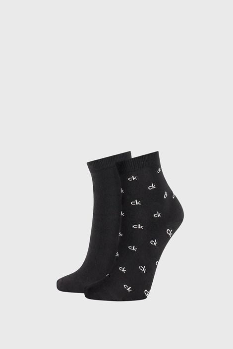 2 PACK γυναικείες κάλτσες Calvin Klein Gretchen μαύρες