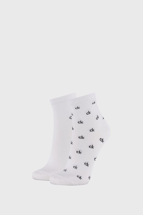 2 PACK γυναικείες κάλτσες Calvin Klein Gretchen λευκές