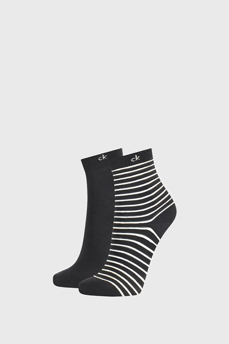 2 PACK γυναικείες κάλτσες Calvin Klein Lilly μαύρες