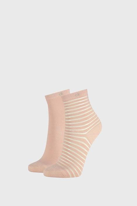 2 PACK γυναικείες κάλτσες Calvin Klein Lilly ροζ