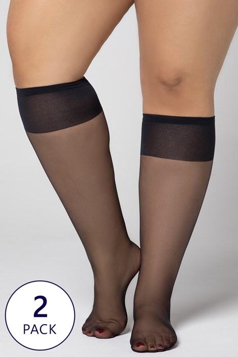 2 PACK νάιλον κάλτσες Plus Size 20 DEN