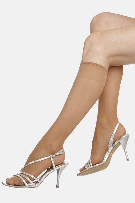2 PACK γυναικείες κάλτσες μέχρι το γόνατο EVONA Silver 20 DEN