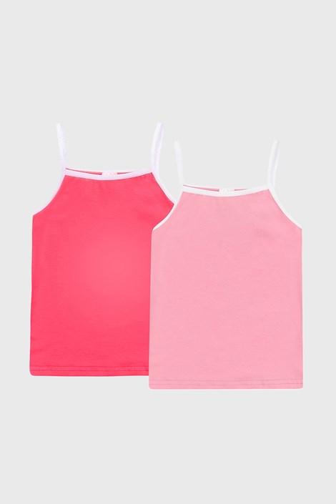 2 PACK ροζ basic φανελάκια για κορίτσια