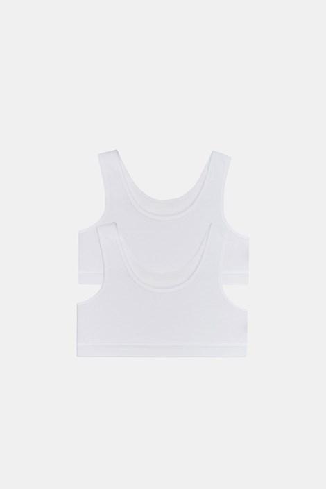 2 PACK basic μπουστάκια για κορίτσια Crop λευκά