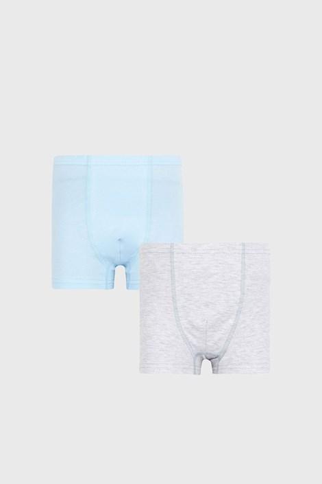 2 PACK γκρι με μπλε μποξεράκια για αγόρια Basic