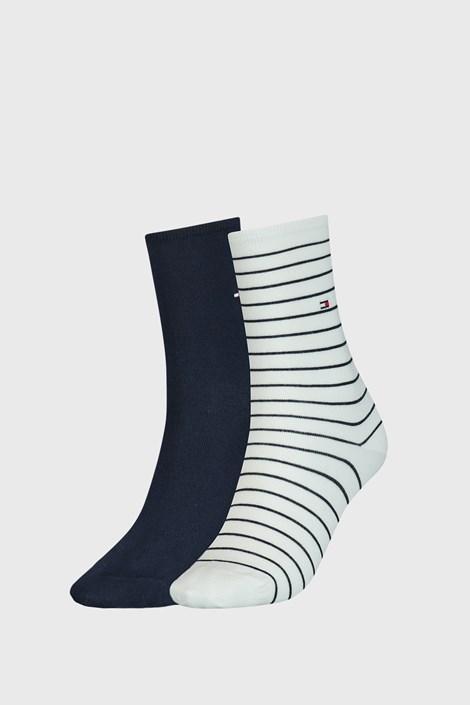 2 PACK γυναικείες κάλτσες Tommy Hilfiger Stripes λευκό / μπλε