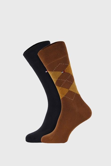 2 PACK κάλτσες Tommy Hilfiger Check χακί