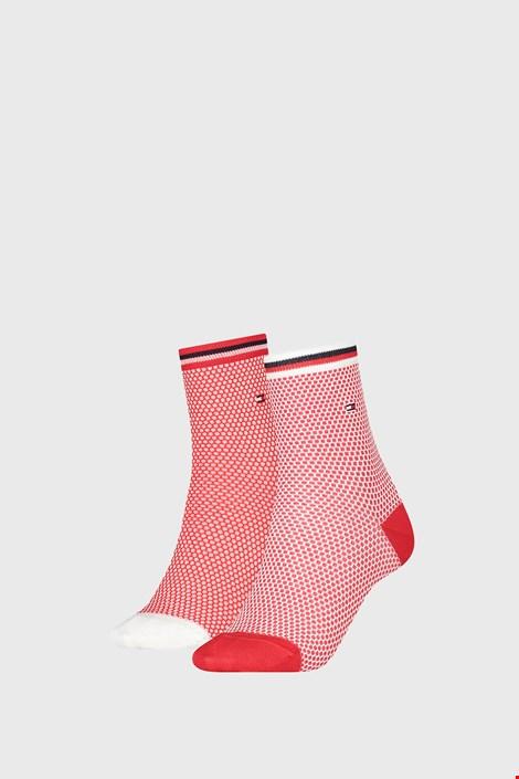 2 PACK γυναικείες κάλτσες Tommy Hilfiger Honeycomb Red
