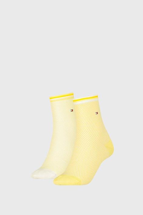 2 PACK γυναικείες κάλτσες Tommy Hilfiger Honeycomb Yellow