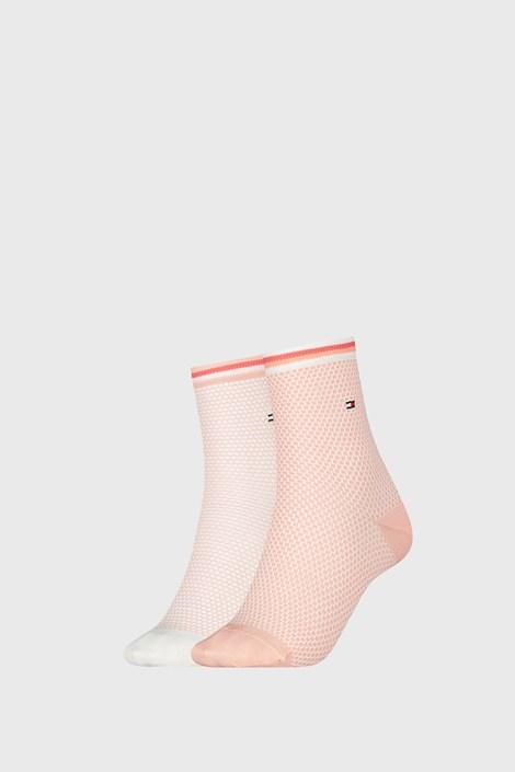 2 PACK γυναικείες κάλτσες Tommy Hilfiger Honeycomb Coral