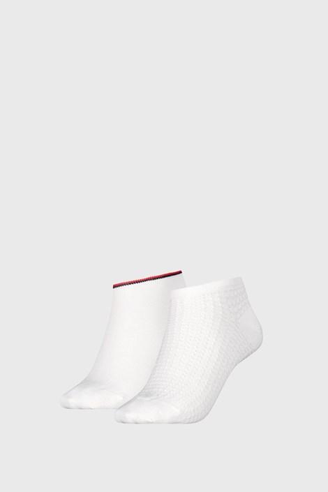 2 PACK γυναικείες κάλτσες Tommy Hilfiger Waffle White