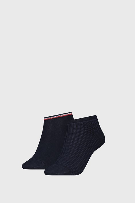 2 PACK γυναικείες κάλτσες Tommy Hilfiger Waffle Navy