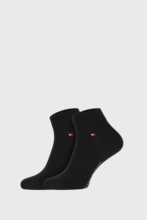 2 PACK μαύρες κάλτσες Tommy Hilfiger Quarter