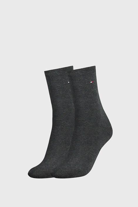2 PACK γυναικείες κάλτσες Tommy Hilfiger Casual γκρι σκούρο