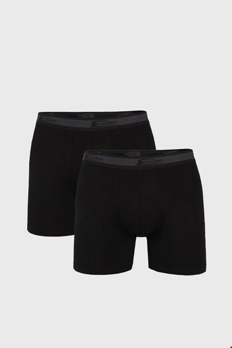 2 PACK μαύρα μποξεράκια με μακρύτερο ποδαράκι UOMO Noir Ι