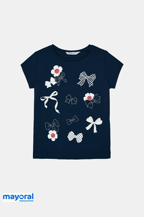 Μπλούζα για κορίτσια Mayoral με φιογκάκια